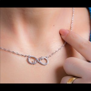 Jewelry - 925 stamped silver infinity necklace